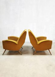 Unique vintage Scandinavian design armchair easy chair lounge fauteuil sixties