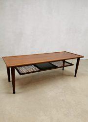 vintage design coffee table salontafel design teak webbing
