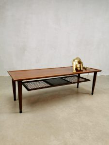 Midcentury Danish design coffee table salontafel 'webbing'