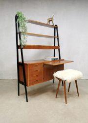 Vintage design room divider desk cabinet wall unit Zweeds bureau