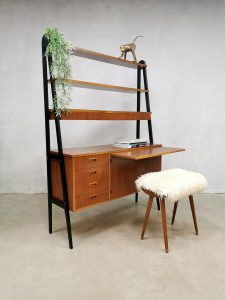 Vintage design room divider desk cabinet wall unit Zweeds bureau