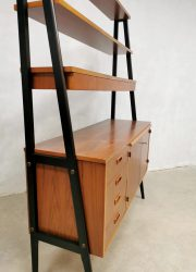mid century wall unit swedish design cabinet bureau desk