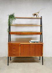 room divider vintage swedish design bureau desk wall unit