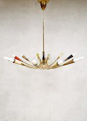 Chandelier hanglamp pendant lamp Sputnik style vintage design Italian fifties