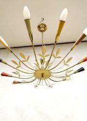Midcentury Italian design chandelier pendant Sputnik style hanglamp
