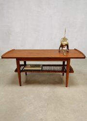 Vintage Dutch design webbing coffee table salontafel