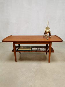 Vintage Dutch design webbing coffee table salontafel