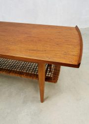 Vintage Dutch design webbing coffee table geweven salontafel retro scandinavian style