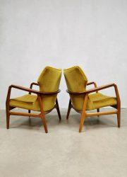 midcentury wingback chair Bovenkamp Dutch design
