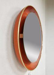 Vintage design illuminated mirror verlichte spiegel Mathieu Mategot Artimeta