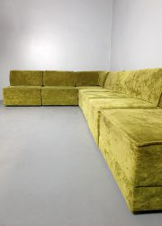 Vintage design modular sofa elementen bank 'Apple green'
