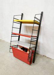Vintage Dutch design wall unit book shelves boekenrek Drentea