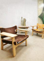 Mid century design 'Spanish chair' fauteuil Borge Mogensen Fredericia