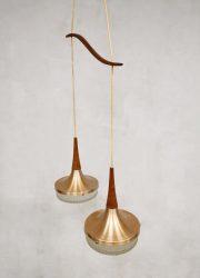Pendant rose vintage hanglamp sixties Danish jaren 60