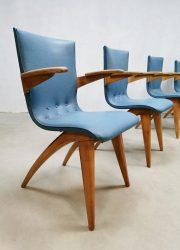 Dutch vintage dinner chairs eetkamerstoelen Culemborg G. van Os