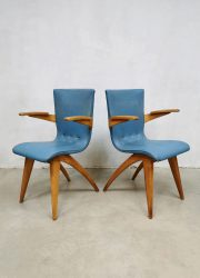 midcentury design Culemborg van Os eetkamerstoelen chairs
