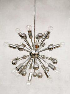 Space Age seventies vintage Sputnik chandelier Cosack Leuchten hanglamp jaren 70 kroonluchter