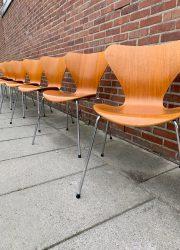 eetkamerstoelen Arne Jacobsen Fritz Hansen eetkamerstoelen