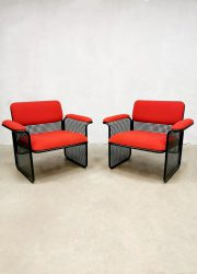 Vintage Italian design lounge set armchairs coffeetable fauteuils stoelen salontafel Talin Spa Vicenza