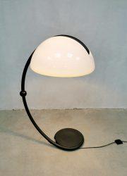 midcentury space age floor lamp Serpente Luce