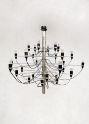 Vintage design chandelier pendant hanglamp Gino Sarfatti