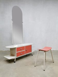 Vintage design dressing table kaptafel 'fifties formica'