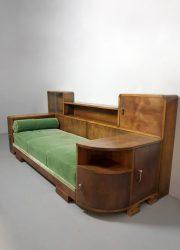 Daybed vintage lounge sofa Art Deco bank slaapbank cabinet unique design