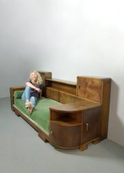 Unique Art Deco daybed sofa lounge bed bank 'Green spirit'