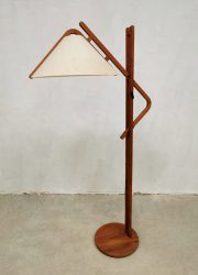 German design floor lamp Domus teak vloerlamp