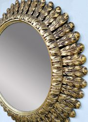 sunburst vintage mirror French design zonnespiegel gold gilded