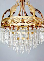 gold gilded leaf chandelier kroonluchter France
