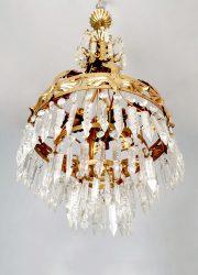 kroonluchter chandelier hollywood regency gold gilded