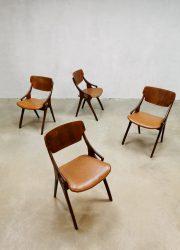 midcentury design dining chairs Hovmand Olsen