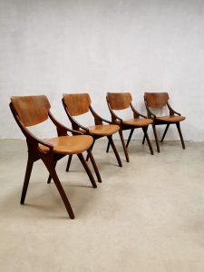 Vintage Danish dining chairs eetkamerstoelen Hovmand Olsen Mogens Kold