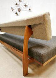 vintage extendable sofa bank Wilkhahn Germany teak sofa bank