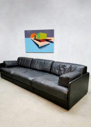 vintage Swiss design DS-76 De Sede sofa black leather bank daybed 2