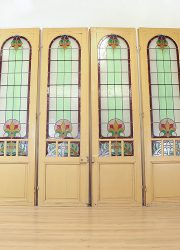 vintage antiek glas in lood ramen deuren doors stained glass church 3