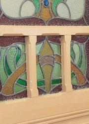 antiek glas in lood deuren stained glass belle epoque jugendstil
