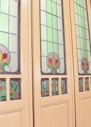 jugendstill deuren stained glass doors church france