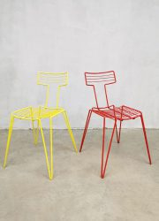 eclectic design wire chairs colors stacking chairs