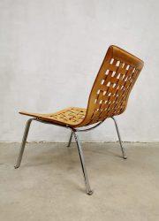 Vintage design leather easy Net chair fauteuil Giancarlo Vegni Fasem