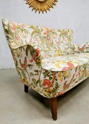 Theo Ruth Dutch design arm chairs lounge sofa botanical