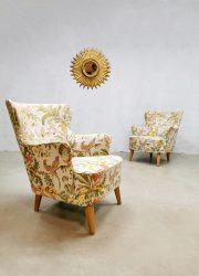 vintage Dutch design armchairs lounge fauteuils Theo Ruth