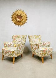 Theo Ruth fauteuil vintage flower sofa bank lounge set