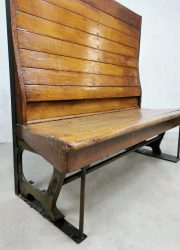 industrial bench train tram bank antique design patina industrial