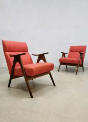 mid century design lounge chairs Webe Louis van Teeffelen easy chairs