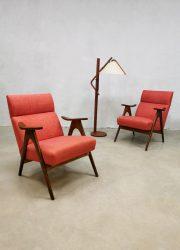 Vintage easy chairs lounge fauteuils Webe Louis van Teeffelen