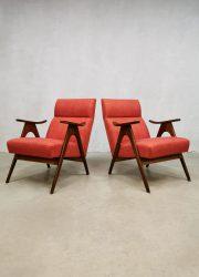 vintage dutch design Webe Louis van Teeffelen easy chairs