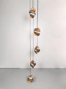 Vintage design twirling pendant hanglamp Henri Mathieu Lyfa