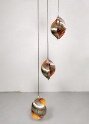 midcentury design pendant twirling Henri Mathieu lamp